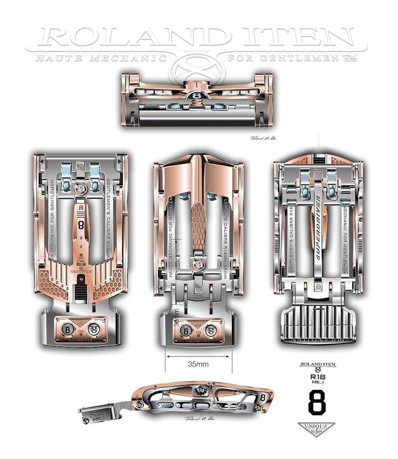 R18 Superdriver mechanical belt buckle: options